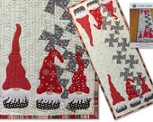 Twister Gnomes Christmas Gnome Table Runner Quilt Pattern - Lil Twister - Around the Bobbin - 15 x 39 Finished Size