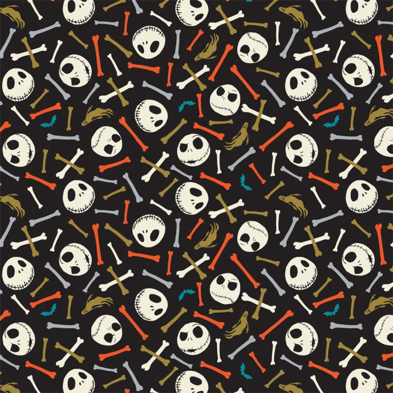 14 prints Jack is Back Camelot Fabric SALE RARE Nightmare Before Christmas Disney Fabric Layer Cake 10 Squares 42 Pieces