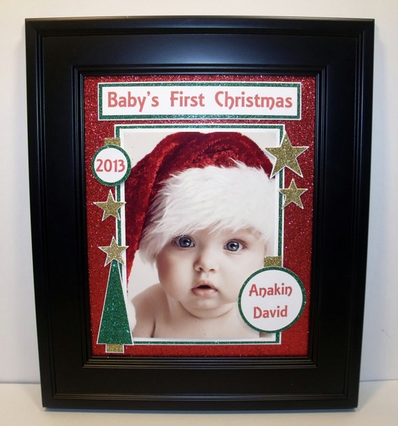 Babys First My First Christmas Picture Frame Free Etsy