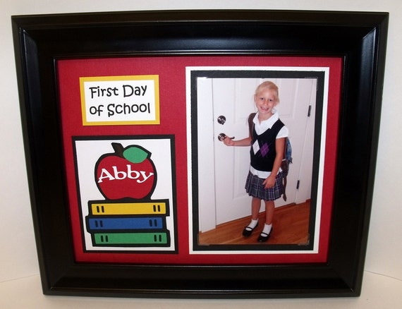 First Day Vs Last Day Of School Frame Personalized Back Etsy