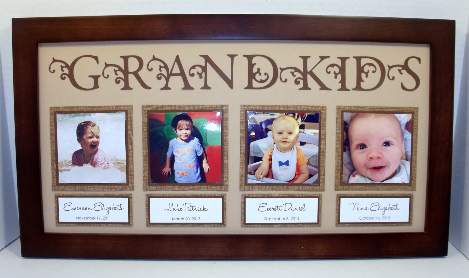 Grandkids Collage Picture Frame 10x20 Personalized You | Etsy
