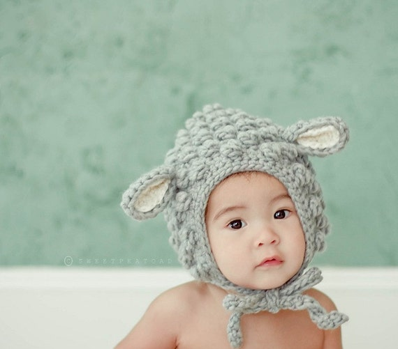 Lamb Hat Animal Hat for Kids Babies Winter Hat  a342d79f929