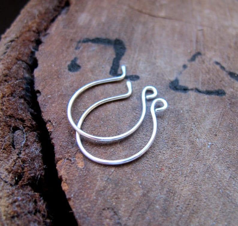 4fb27ce65 French Ear wire 20 gauge Sterling Silver Earwires earrings | Etsy