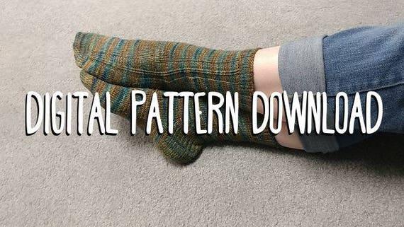 Pattern Zombie Twisted Rib Sock Pattern Easy Sock Pattern Etsy
