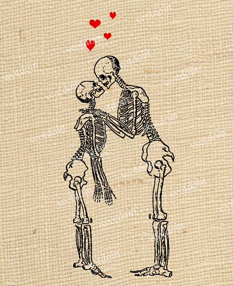 Amore Di Scheletro Cuori Halloween Baciare ImmagineEtsy xoBCrde