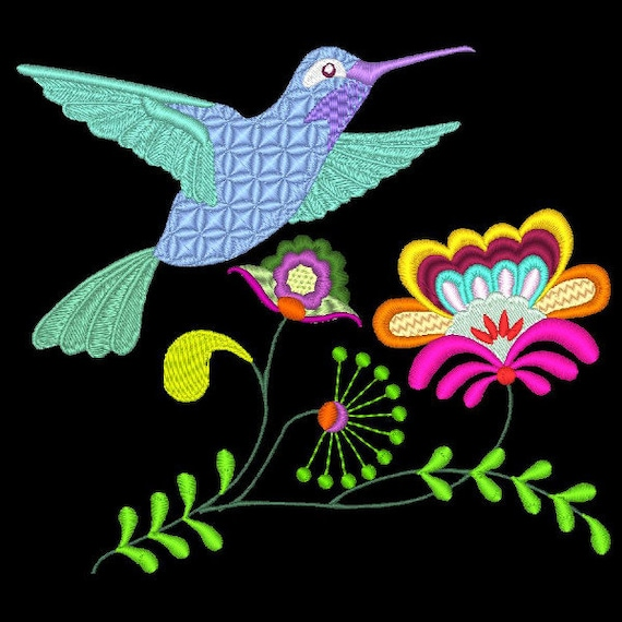 FREE SHIPPING JACOBEAN HUMMERS 20 Machine Embroidery Designs CD 6inch