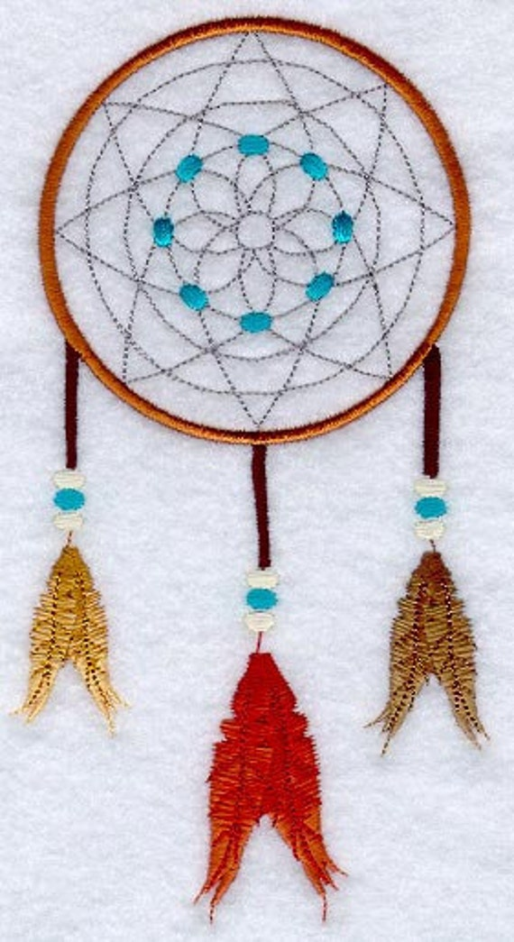 TRADITIONAL DREAM CATCHER Machine Embroidered Quilt Blocks Magnificent How To Make Authentic Dream Catchers