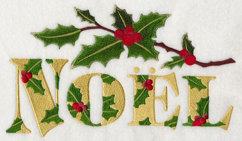 AzEB Machine Embroidery Quilt Blocks FESTIVE FLORALS NOEL