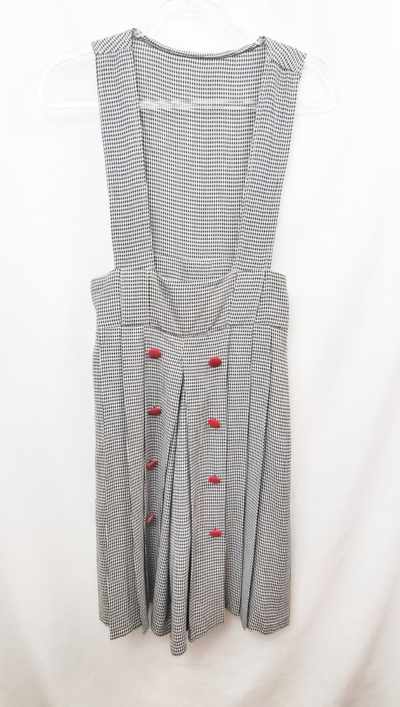 VTG 80s French Pierot Gingham Culotte Romper Plays