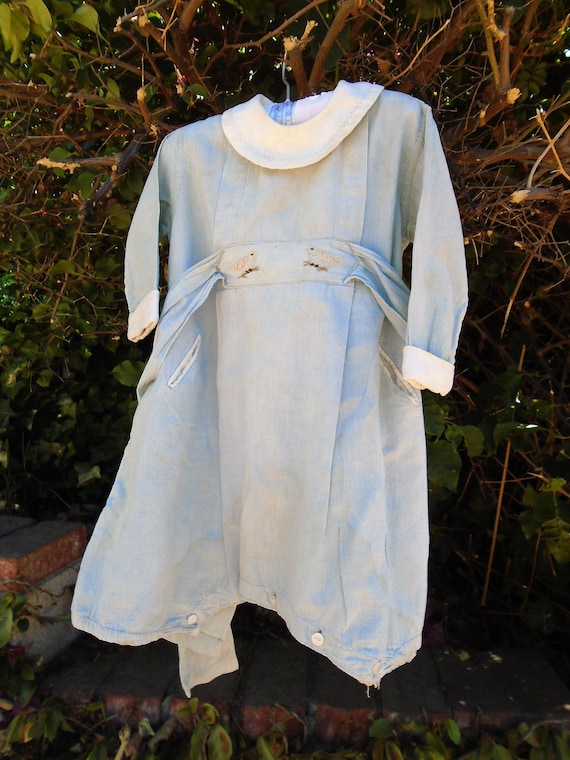 Original Antique 1800's Toddler Baby one piece Cot