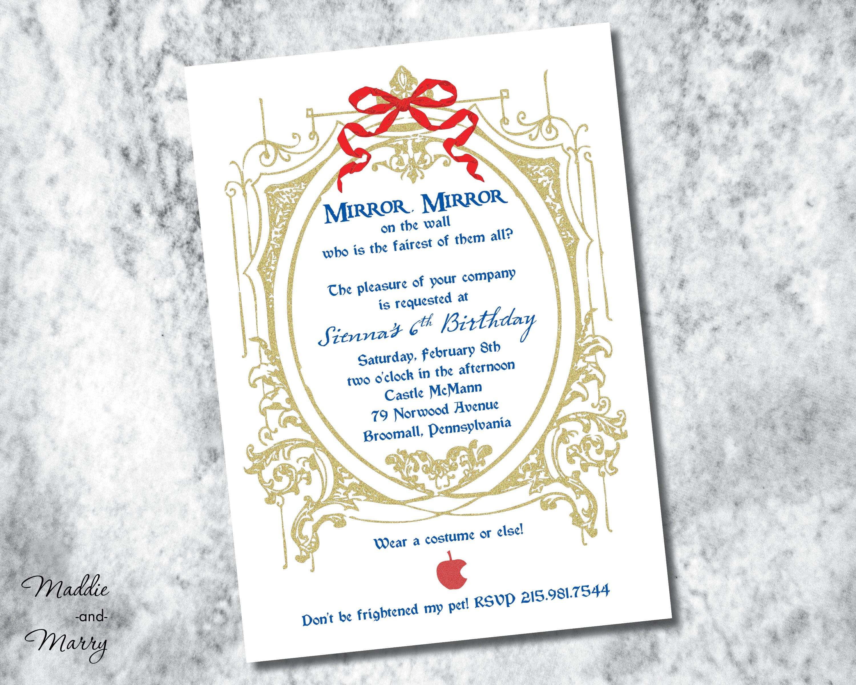 50: Wedding Invitation Antique Mirror At Reisefeber.org