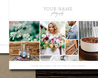 Photography Templates - Thank You Card Templates - Photography Thank You Cards - Wedding Planner Marketing Templates - Photoshop Templates