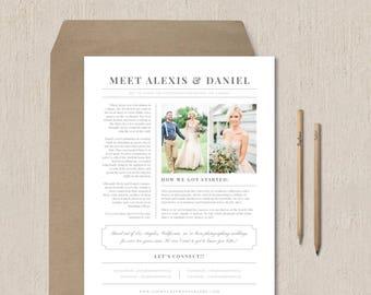 wedding newspaper template