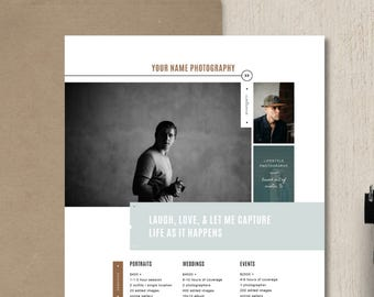 pricing guide template photography price list design etsy