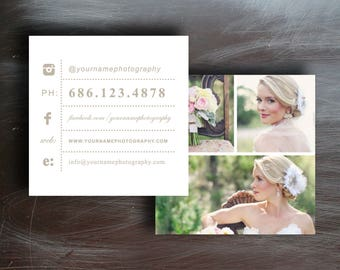 Photography business card etsy photography templates photography business cards business card template business cards square business card template accmission Gallery