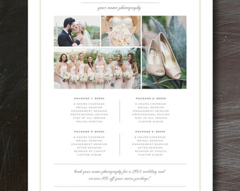 Price List Template For Photographers Digital Pricing Etsy