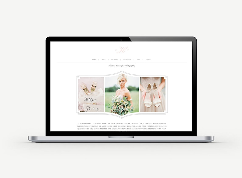 Squarespace Template  Wedding Photographer Website  image 0