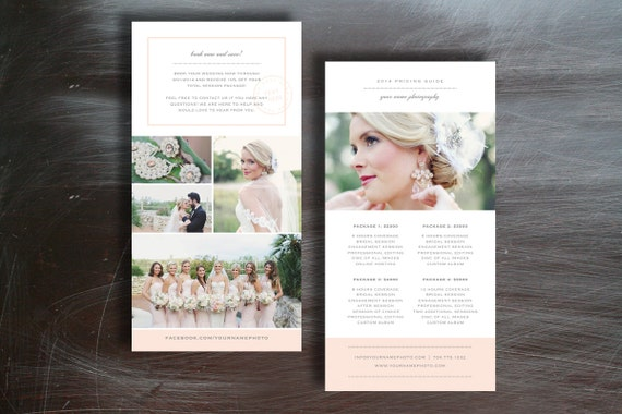 photographer pricing guide template photoshop templates