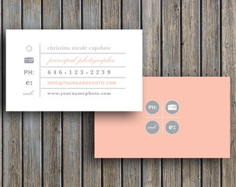 Photography Templates - Business Card Template - Business Cards Vintage Business Card Template for Photographers (digital Photoshop files)