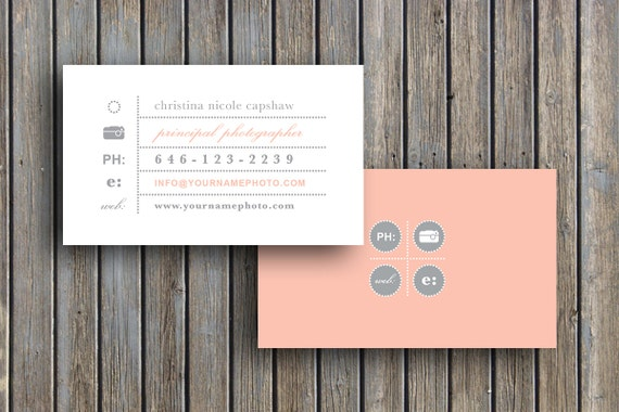 Photography Templates Business Card Template Business Etsy