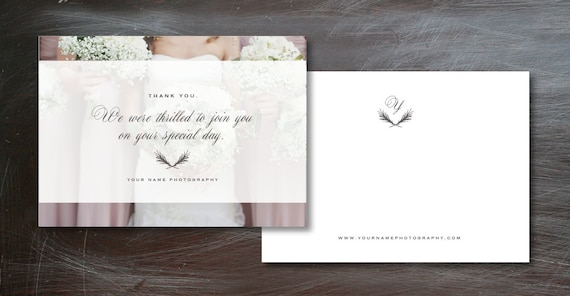 Photographer Thank You Card Template Marketing Templates For Etsy