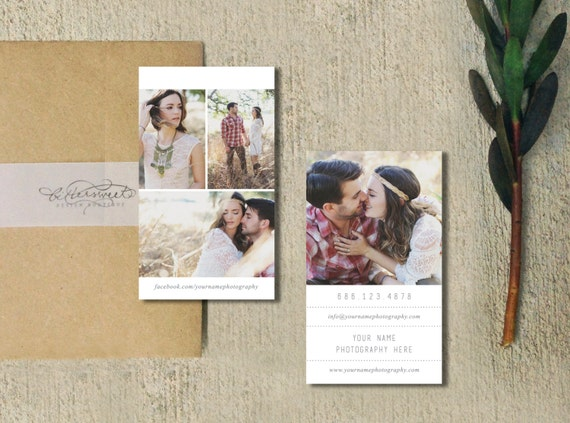 Photography Templates - Business Card Template - Business Cards - Business Card Template for Photographers - Photoshop Templates