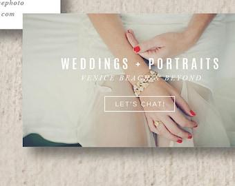 Modern Business Card Design - Business Card Template - Wedding Photographer Moo Business Cards - Digital Photoshop Templates
