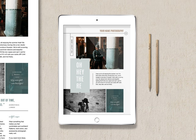 SALE! Newsletter Template for Email, Pinterest, and Social Media - Photography Marketing Templates - Magazine Style Newsletter Design