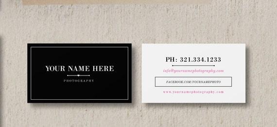 Modern business card template wedding photographer business etsy image 0 flashek Gallery