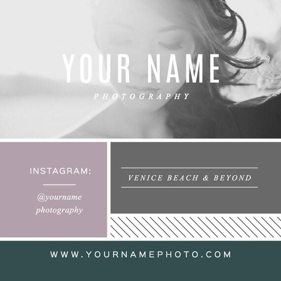 Visitenkarte Design Quadratische Visitenkarte Vorlage Für Fotografen