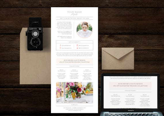 Photography Templates Email Template Newsletter Template Etsy