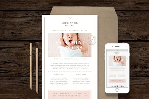 Email Newsletter Template For Photographers Photography Etsy