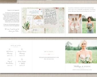 Wedding Planner Marketing Trifold Template - Event Coordinator Templates - Printable Branding Templates