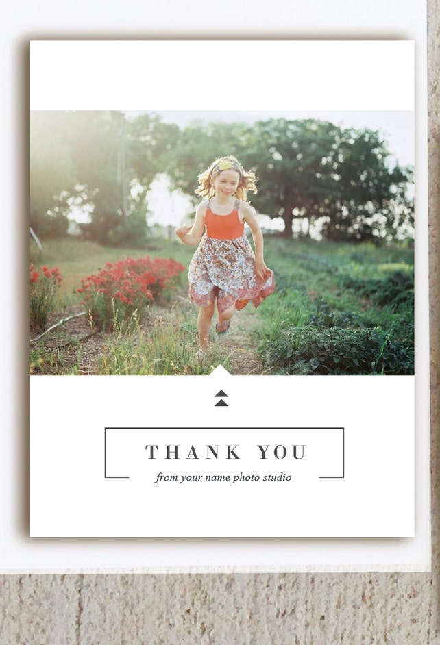 Instant Download Thank You Card Template For Photographers Simple