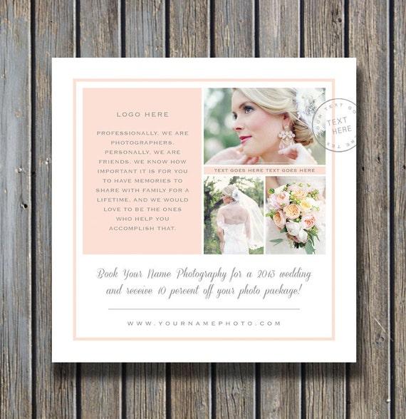 Photography Templates Wedding Photographer Marketing Etsy