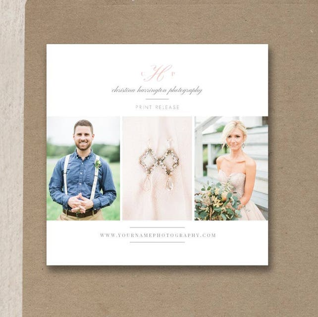 Photographer Print Release Template - Photoshop Marketing Templates - Copyright Form for Wedding Photographers