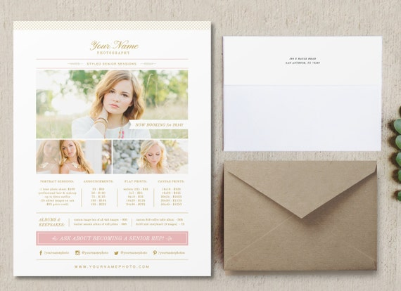 Photography Pricing Sheet Template Photographer Pricing Etsy