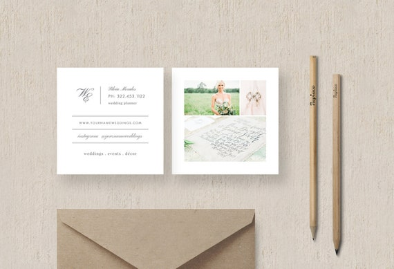 Moo Business Cards - Event Coordinator Business Cards - Photoshop Template for Wedding Planners - Customizable Business Cards