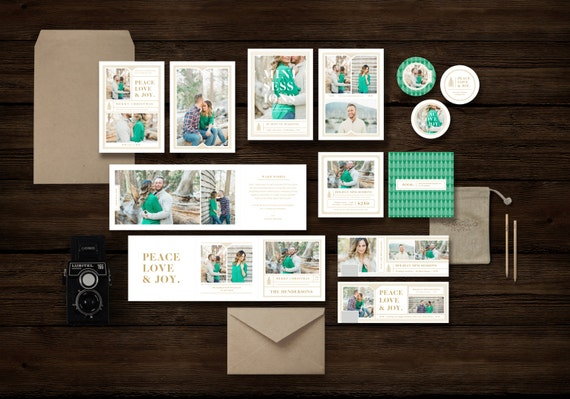Photography Templates - Holiday Mini Session Templates for Photographers - Christmas Card Template for Professional Photographers