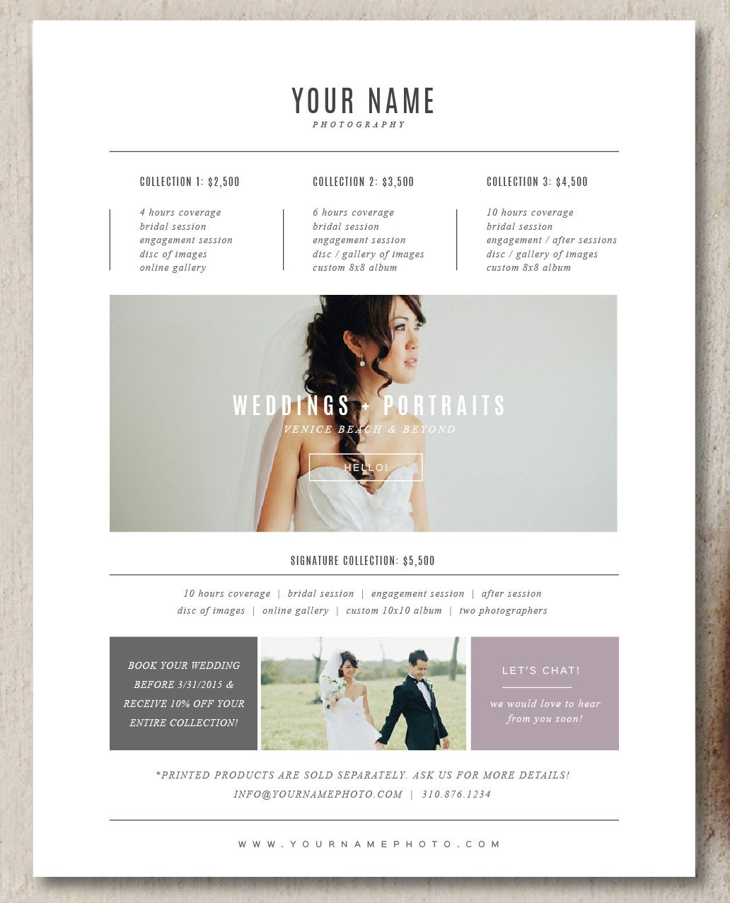 photographer pricing template photography pricing guide etsy