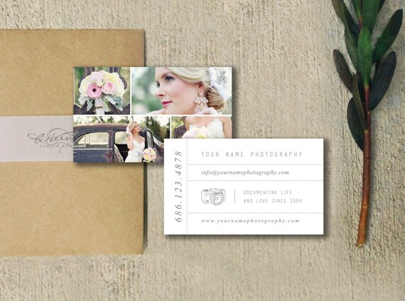 Photography Templates - Business Card Template - Business Card Template - Wedding Photographer Business Card Design - Photography Templates