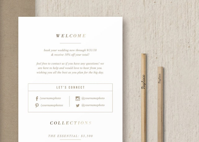 rack card template for photographers wedding photographer brochure