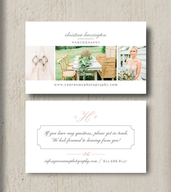 Moo Business Cards Photography Business Cards Photoshop   Etsy