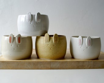 Choose your colour - rabbit ceramic yarn bowl