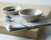 Set of two snack bowls in simply clay - hand thrown tapas style dishes