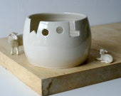 SECONDS SALE - Wool yarn bowl in simply clay