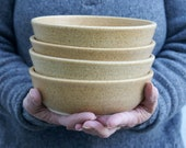 Made to order - Set of six small salad bowls glazed in your choice of colour