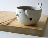 SECONDS SALE - Little wren bird pottery yarn bowl in vanilla cream