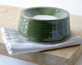 Made to order - Handmade pet feeding bowl glazed in your choice of colour