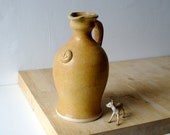 Traditional carafe style jug - with anchor design glazed in natural brown